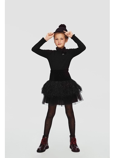 Lia Lea Kız Çocuk Siyah Etek 20Fwll07285 Siyah